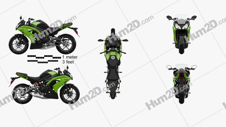 Kawasaki Ninja 650R (ER-6f) 2014 Motorcycle clipart