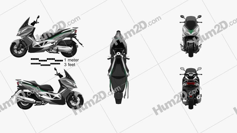 Kawasaki J300 2014 Clipart Image