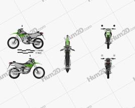 Kawasaki KLX250 2014 Clipart
