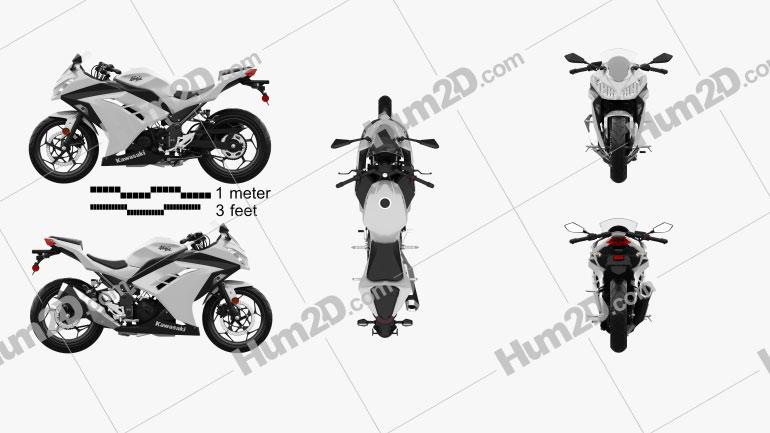 Kawasaki Ninja 300 2014 Motorcycle clipart