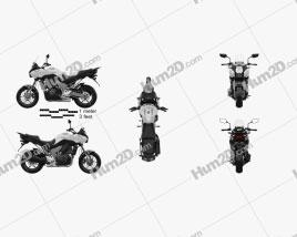 Kawasaki Versys 1000 2014 Motorcycle clipart