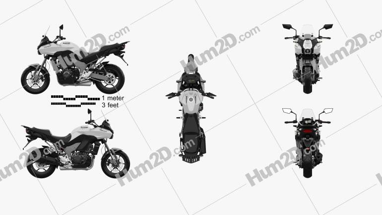 Kawasaki Versys 1000 2014 Clipart Image