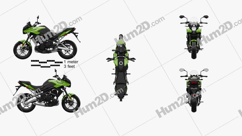 Kawasaki Versys 2014 Motorcycle clipart