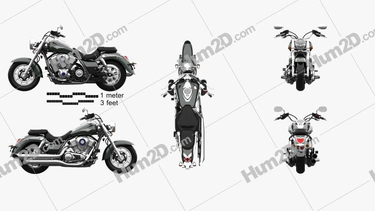Kawasaki Vulcan 1700 Classic 2014 Clipart Bild