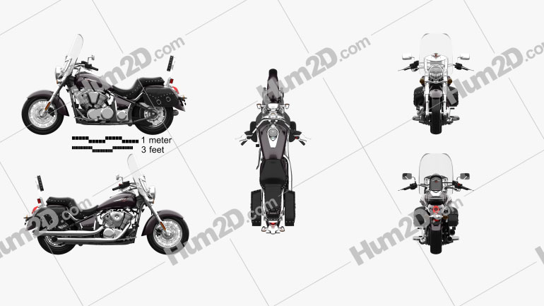 Kawasaki Vulcan 900 Light Tourer 2014 Clipart Image