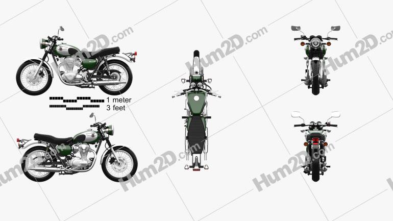 Kawasaki W800 2014 Clipart Image