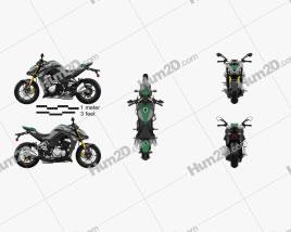 Kawasaki Z1000 2014 Motorrad clipart