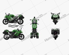 Kawasaki Z1000SX Tourer 2014 Motorcycle clipart
