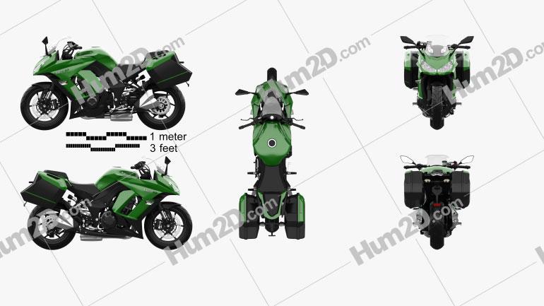 Kawasaki Z1000SX Tourer 2014 Clipart Image
