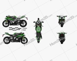 Kawasaki ZX-10R 2014 Moto clipart