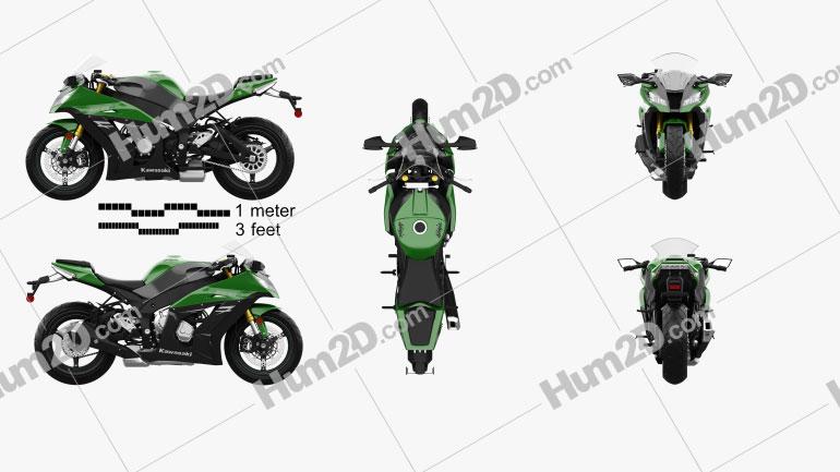 Kawasaki ZX-10R 2014 Clipart Image