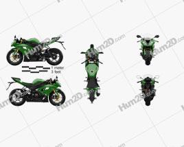 Kawasaki ZX-6R 2014 Motorcycle clipart