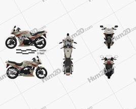 Kawasaki Ninja 500R 2007 Motorcycle clipart