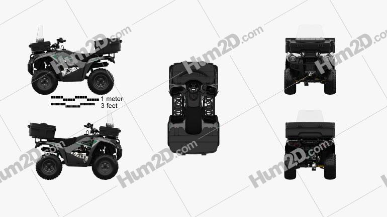 Kawasaki Brute Force 300 2016 clipart