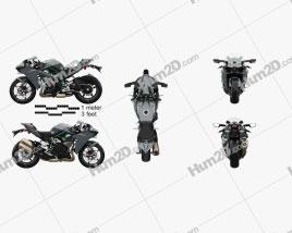 Kawasaki Ninja H2 2015 Motorcycle clipart