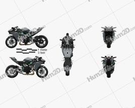 Kawasaki Ninja H2 R 2015 Motorcycle clipart
