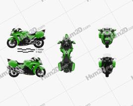 Kawasaki Concours 14 2015 Motorcycle clipart