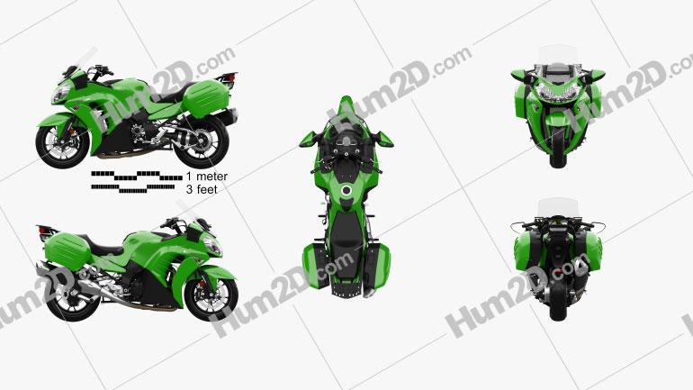 Kawasaki Concours 14 2015 Clipart Image