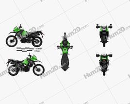 Kawasaki KLR650 2015 Motorcycle clipart