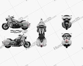 Kawasaki Vulcan 1700 Vaquero 2015 Motorcycle clipart