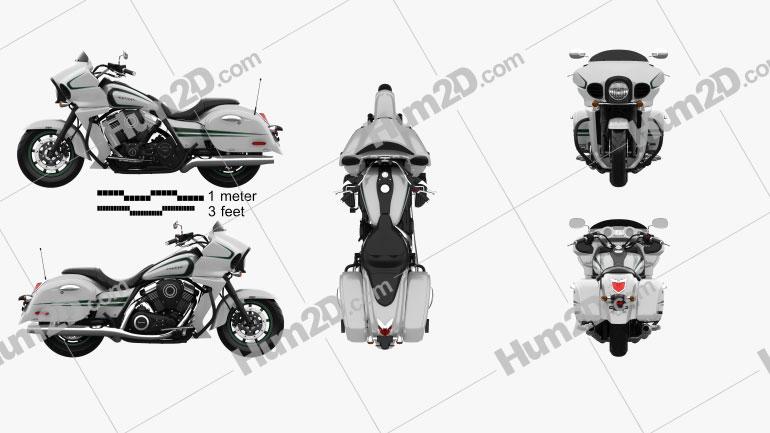 Kawasaki Vulcan 1700 Vaquero 2015 Imagem Clipart