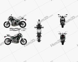 Kawasaki Z650 2017 Motorrad clipart
