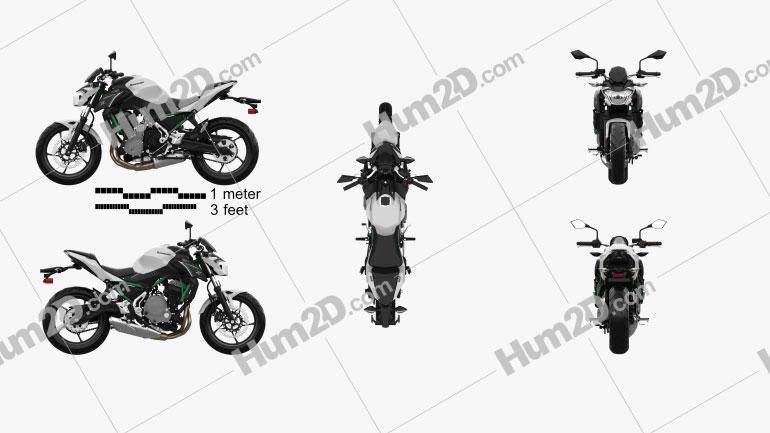 Kawasaki Z650 2017 Clipart Image