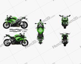 Kawasaki Z1000SX 2017 Motorcycle clipart
