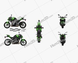Kawasaki Z900 2017 Motorcycle clipart