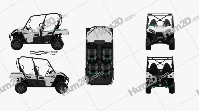 Kawasaki TERYX4 2016 clipart