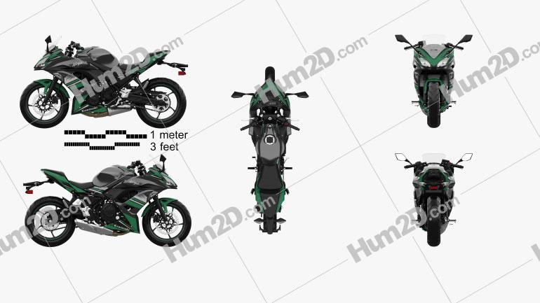 Kawasaki Ninja 650 2017 Clipart Image