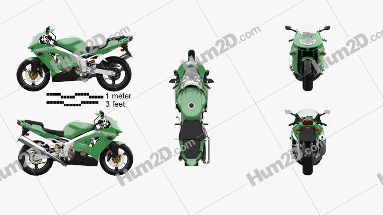 Kawasaki Ninja ZX-9R 1998 Motorcycle clipart