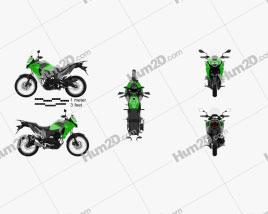 Kawasaki Versys-X 300 2017 Motorcycle clipart