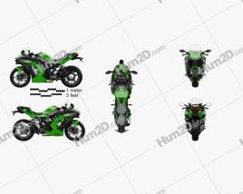 Kawasaki Ninja H2 SX 2018 Motorcycle clipart