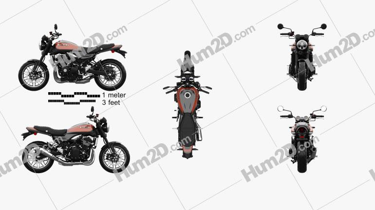 Kawasaki Z900RS 2018 Clipart Image