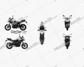 Kawasaki Versys 650 2018 Moto clipart