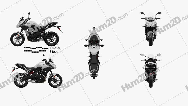 Kawasaki Versys 650 2018 Motorcycle clipart