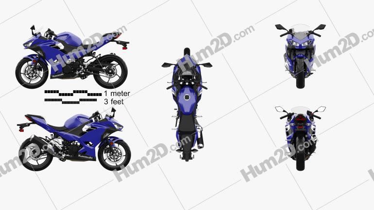 Kawasaki Ninja 400 2018 Clipart Image