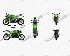 Kawasaki Ninja 125 2019 Motorcycle clipart