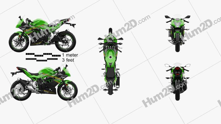 Kawasaki Ninja 125 2019 Clipart Image