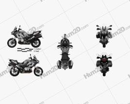 Kawasaki Versys 1000 SE LTplus 2019 Motorrad clipart