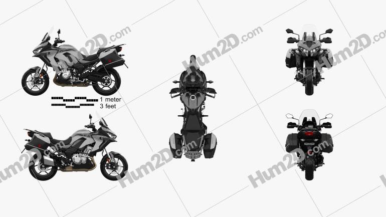 Kawasaki Versys 1000 SE LTplus 2019 Motorcycle clipart