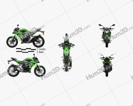 Kawasaki Z125 2019 Motorcycle clipart