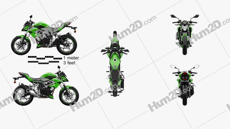 Kawasaki Z125 2019 Clipart Image