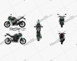 Kawasaki Z400 2019 Motorcycle clipart