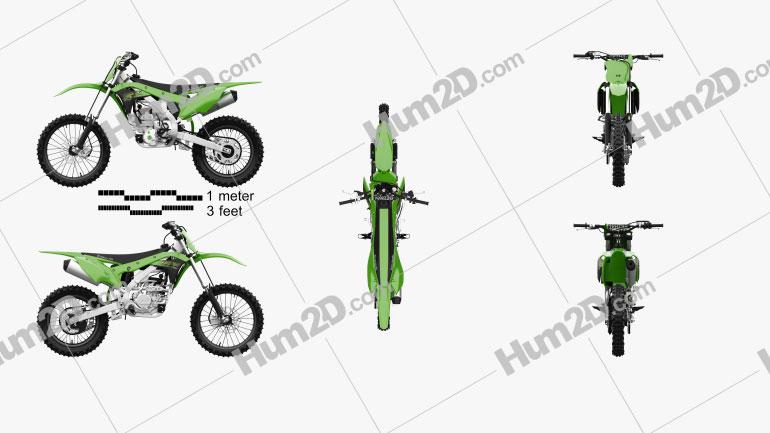 Kawasaki KX250 2020 Clipart Image