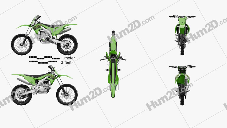 Kawasaki KX450 2020 Clipart Image