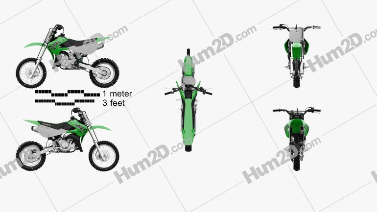 Kawasaki KX65 2020 Motorcycle clipart