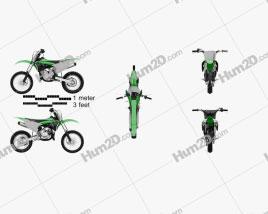 Kawasaki KX85 2020 Motorcycle clipart
