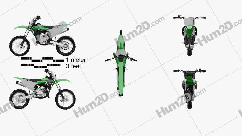 Kawasaki KX85 2020 Clipart Image